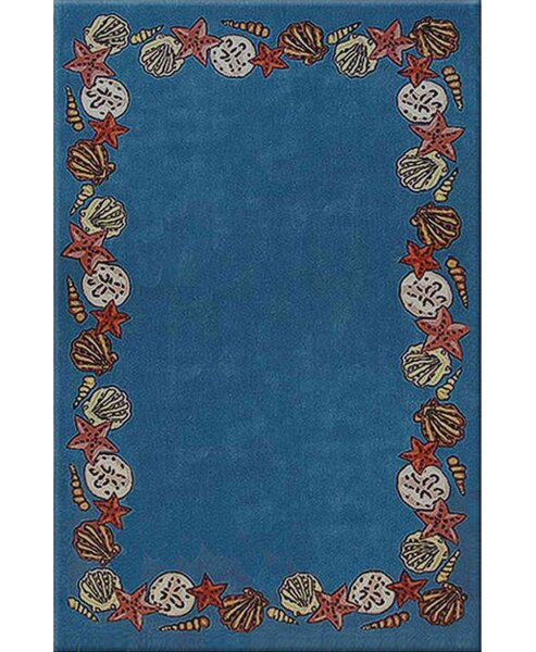 Beach Rug Blue Coral Reef Novelty Rug by American Home Rug Co.
