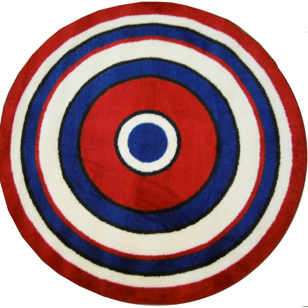 Fun Shape High Pile Concentric Circles Area Rug by Fun Rugs