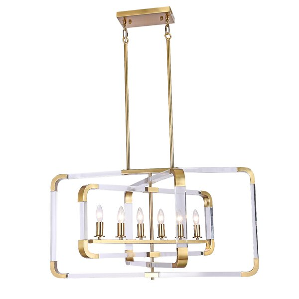 Earnestine 6-Light Rectangle Chandelier by Everly Quinn Everly Quinn