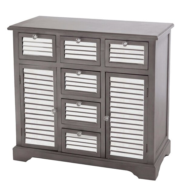 Summit Mirrored 6 Drawer Accent Cabinet by Gallerie Decor
