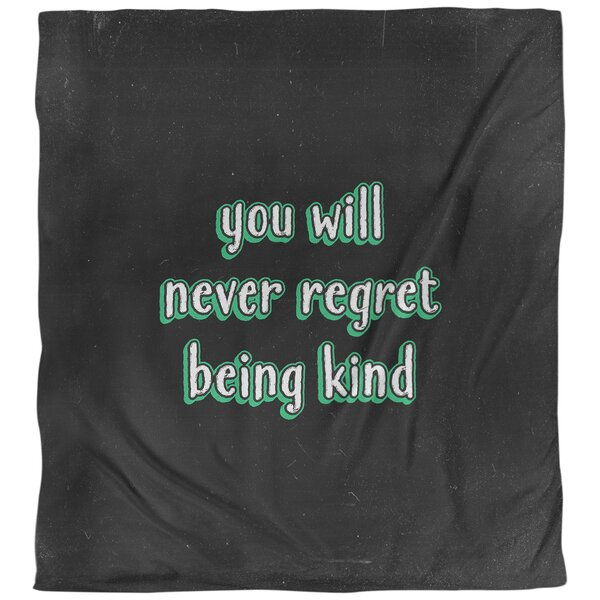 Quotes Be Kind Single Reversible Duvet Cover