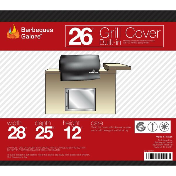 Turbo Grill Cover - Fits up to 26 by Barbeques Galore
