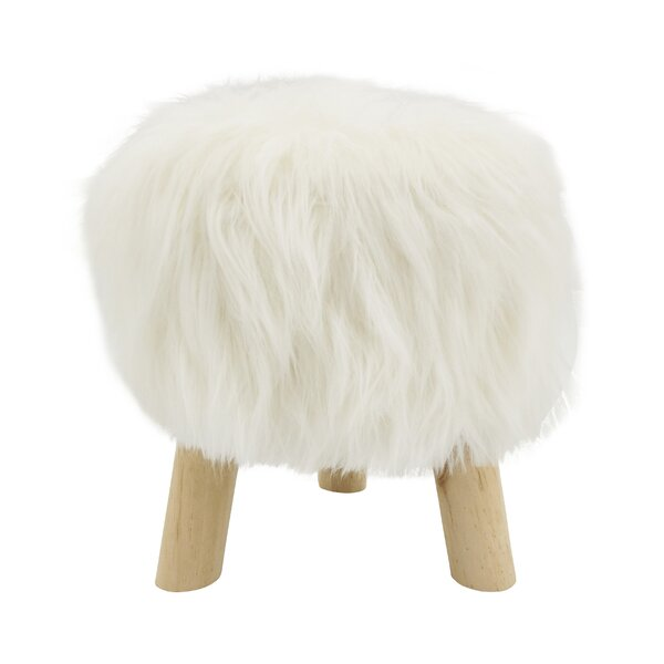 Ortegon Mane Attraction Faux Fur Accent Stool by Union Rustic