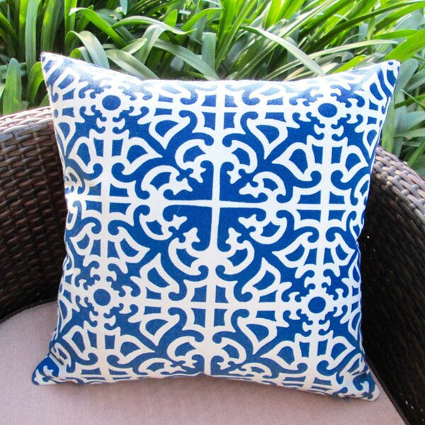 Classic Garden Maze Modern Contemporary Geometric Indoor/Outdoor Pillow Cover (Set of 2) by Artisan Pillows