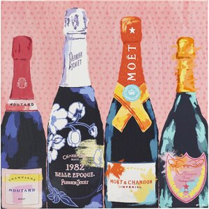 'Pass The Bottle!' Graphic Art on Wrapped Canvas by Willa Arlo Interiors