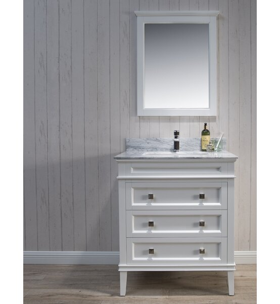 Briese 31 Single Bathroom Vanity Set with Mirror by Wrought Studio