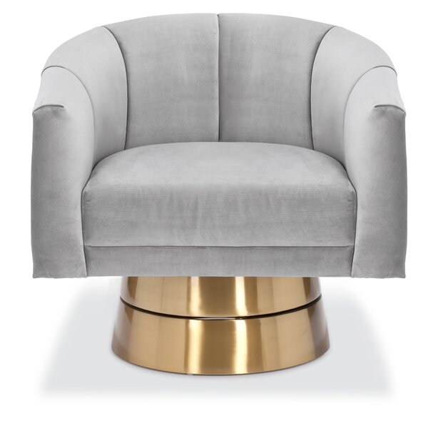 Lafrance Swivel Barrel Chair By Everly Quinn
