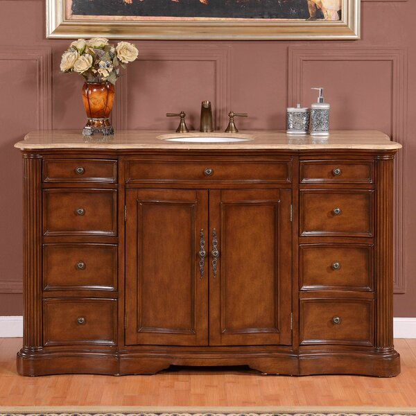 Vandewa 60 Sink Cabinet Single Bathroom Vanity Set