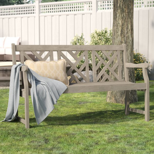 Elsner Acacia Garden Bench by Three Posts