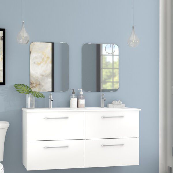 Iorio Modern 48 Wall-Mounted Bathroom Vanity Set b