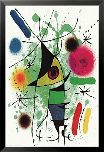 'The Singing Fish' by Joan Miro Framed Graphic Art Poster