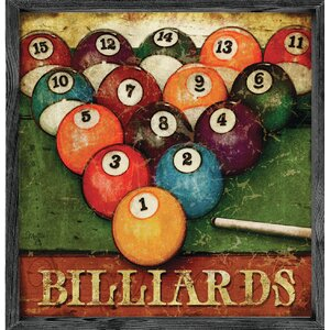 Magnet Print Billiards Framed Graphic Art by Forest Creations