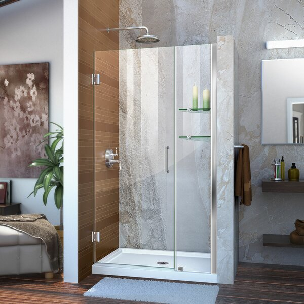 Unidoor 43 x 72 Hinged Frameless Shower Door with ClearMax™ Technology by DreamLine