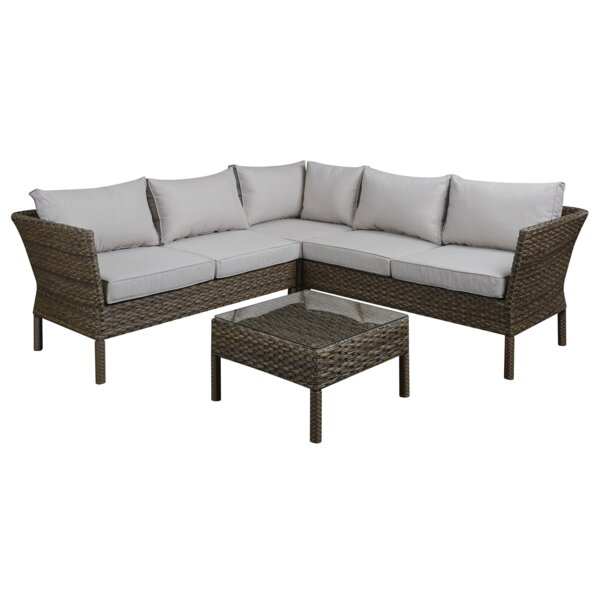 Wickson 2 Piece Sectional Set with Cushions by Bay Isle Home