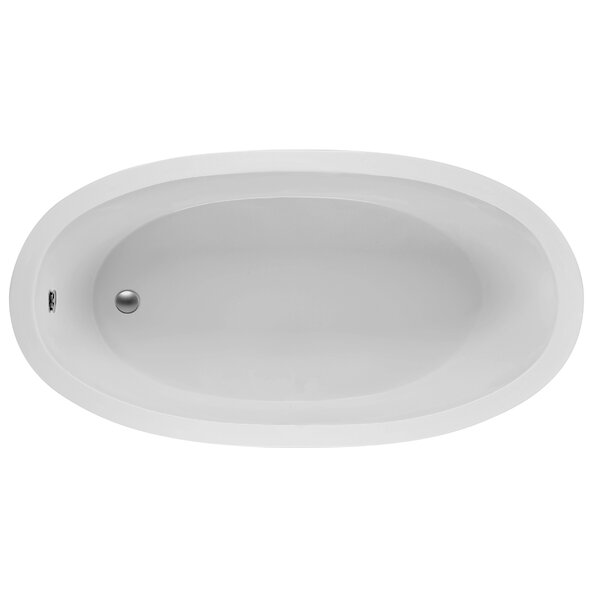 Oval 72.5 x 36.38  Soaking Bathtub by Reliance