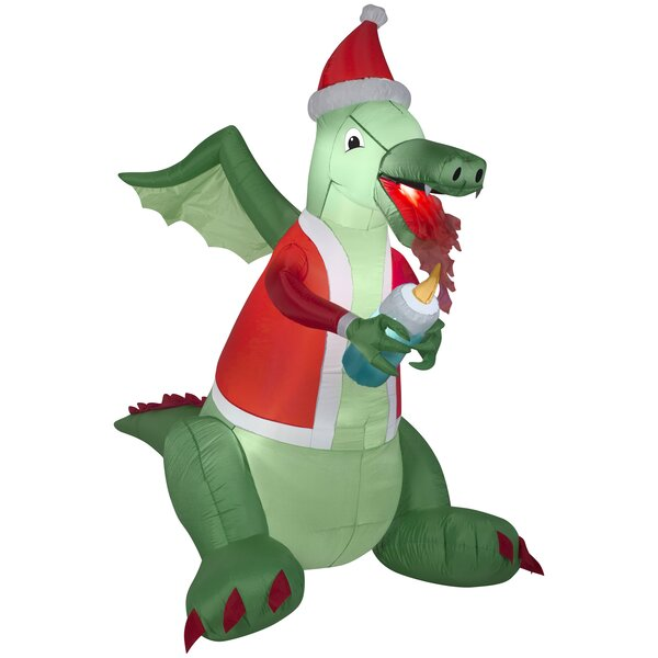Dragon Lighting Candle Christmas Oversized Figurine by The Holiday Aisle
