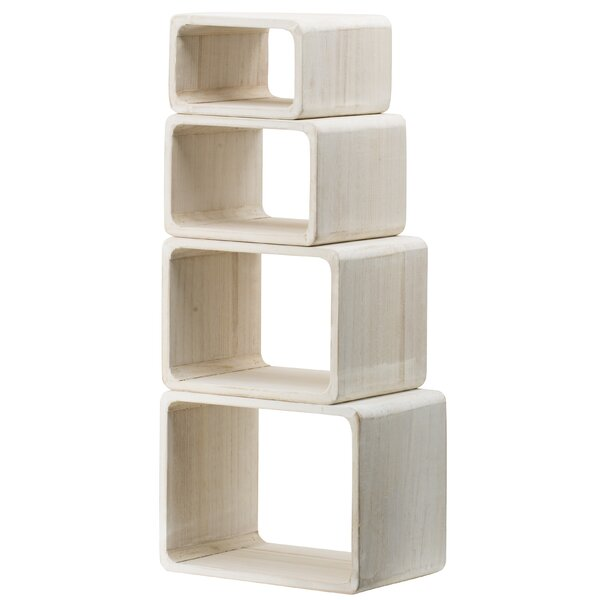 Kangley 4 Piece Graduated Rectangular Cube Bookcase Set By Rosecliff Heights