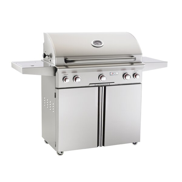 T Series Gas Grill with Side Shelves by American Outdoor Grill