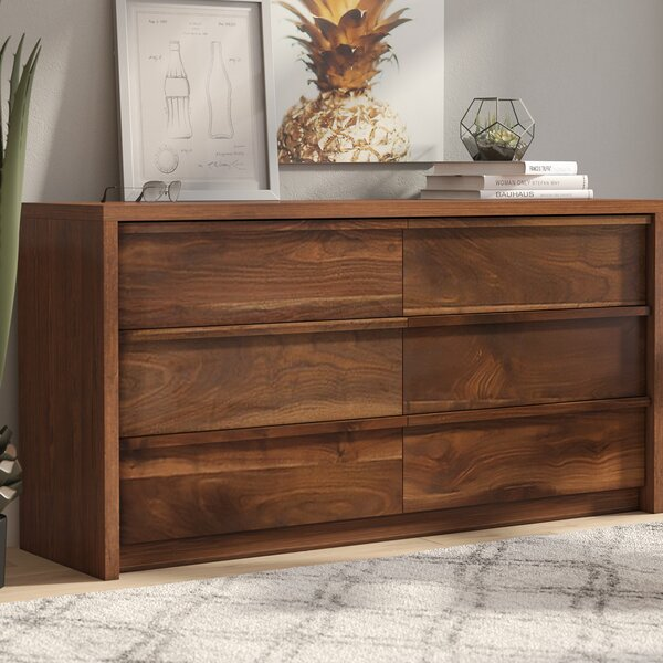 Posner 6 Drawer Double Dresser by Mercury Row