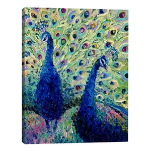 Gemini Peacock by Iris Scott Painting Print on Wrapped Canvas by Jaxson Rea