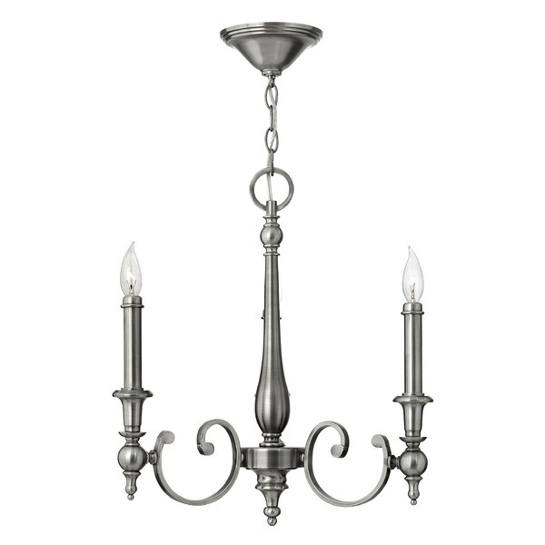 Yorktown 3 Light Candle Style Chandelier By Hinkley Lighting.