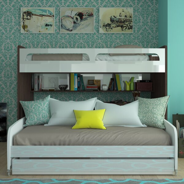 Gautreau Twin Over Twin L-Shaped Bunk Bed With Trundle by Brayden Studio