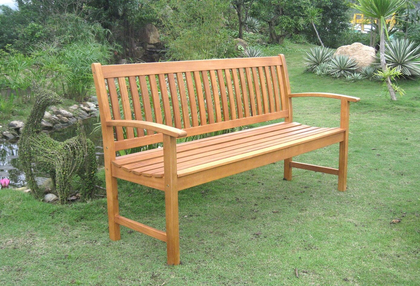 Breakwater Bay Sabbattus Balau 3 Seat Wood Garden Bench Reviews Wayfair