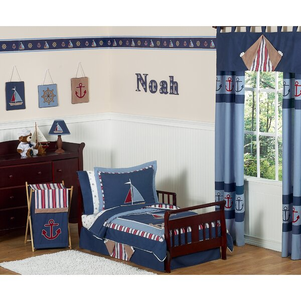 Nautical Nights 5 Piece Toddler Bedding Set by Sweet Jojo Designs