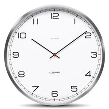 """One35 13.78"""" Arabic Stainless Steel Wall Clock"""