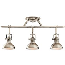 Rail Lights 3-Light Directional Full Track Lighting Kit