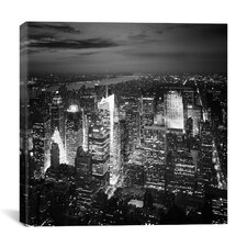 New York City Nights by Nina Papiorek Photographic Print on Wrapped Canvas