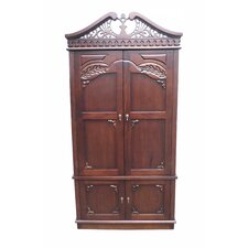 Carved Top Armoire by D-Art Collection Compare Price