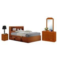 Platform 4 Piece Bedroom Set by Hodedah Best Price