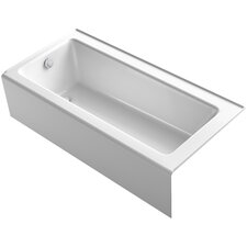 "Bellwether 66"" x 32"" Alcove BubbleMassage Air Bathtub with Integral Apron"