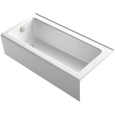 "Bellwether 66"" x 32"" Alcove BubbleMassage Air Bathtub with Left-Hand Drain and Heater"