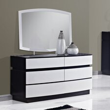 Catalina 6 Drawer Dresser with Mirror by Global Furniture USA