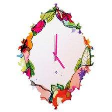 CayenaBlanca Floral Frame Wall Clock