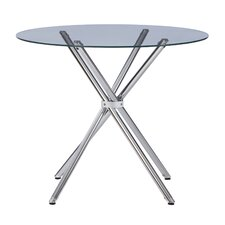Vince Glass Round Dining Table