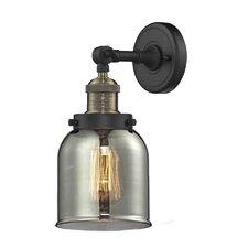 1-Light Glass Bell Wall Sconce