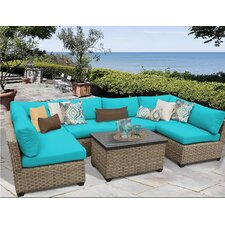 Monterey 7 Piece Sectional Seating Group with Cushion by TK Classics