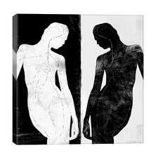 Modern Contrasting Silhouette Figure by iCanvasART Graphic Art on Canvas