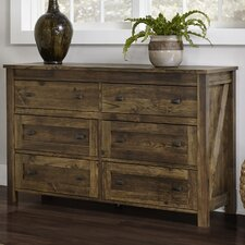 Gilby 6 Drawer Dresser by August Grove®
