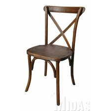 Forest Cross Back Weathered Style Chair by Midas Event Supply