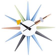 "13.5"" Sunburst Metal Boutique Wall Clock"
