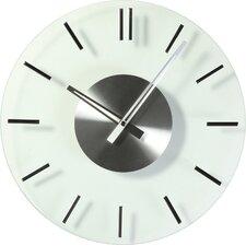"16"" Mid Century Glass Wall Clock"