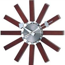 Telechron Modern Wall Clock in Walnut