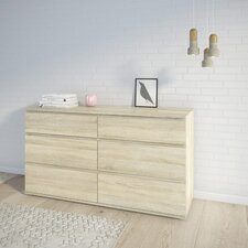 Aaron 6 Drawer Double Dresser by Varick Gallery®