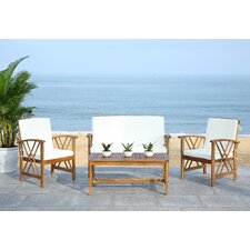 Fontana 4 Piece Seating Group with Cushions by Safavieh
