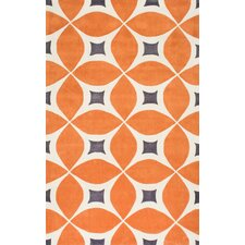 Stoltenberg Hand-Woven Deep Orange Area Rug