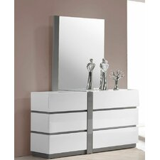 Orrstown 6 Drawer Dresser with Mirror by Wade Logan®